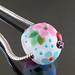 Charm bead : Ladybug in blue