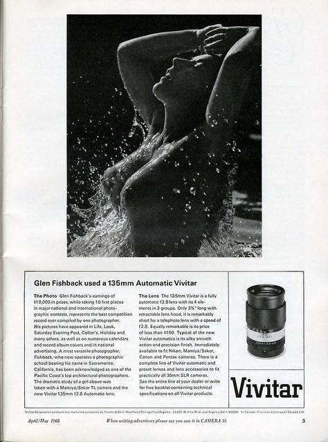 Vivitar 135mm f2.8 Automatic lens - 1968