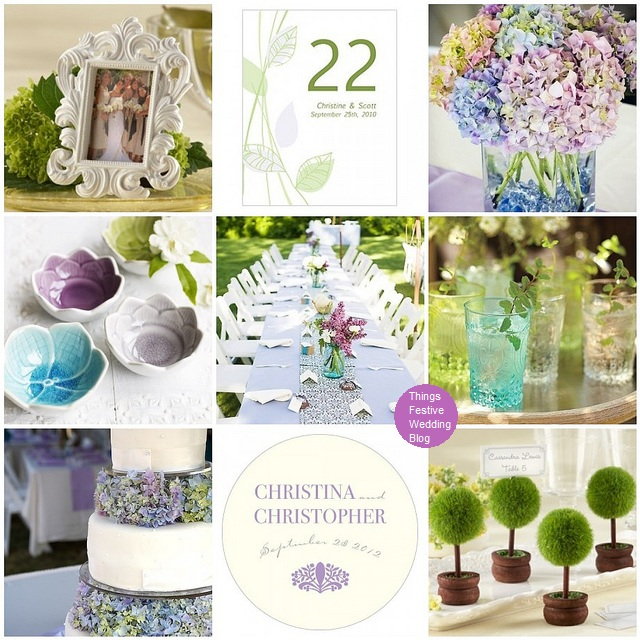 Purple And Green Wedding Decorations