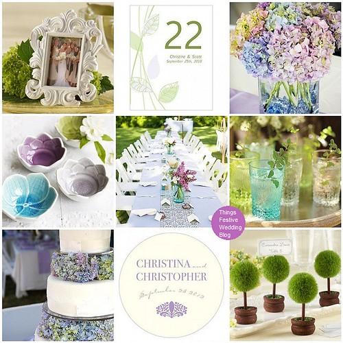 Purple Aqua And Green Garden Wedding Theme Things