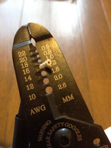 BELDEN8421シールド制作:ワイヤストリッパー