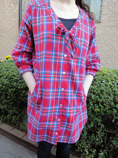 PLAID SHIRT DRESS from MILK FED_1