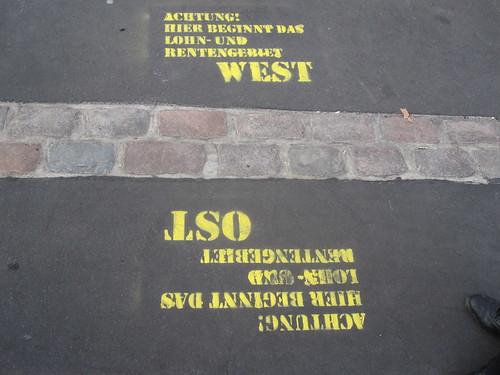 El Muro de Berlín dividió Berlín: las dos partes