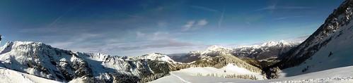 12 Paysage de neige vue de l'Ô de Seythenex le 3 janvier 2012