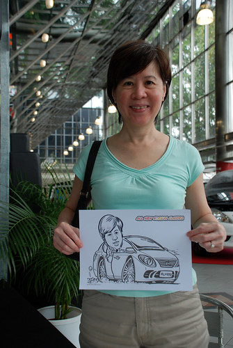Caricature live sketching for Tan Chong Nissan Almera Soft Launch - Day 2 - 11
