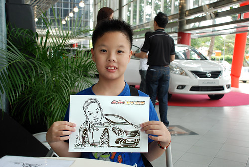 Caricature live sketching for Tan Chong Nissan Almera Soft Launch - Day 2 - 25