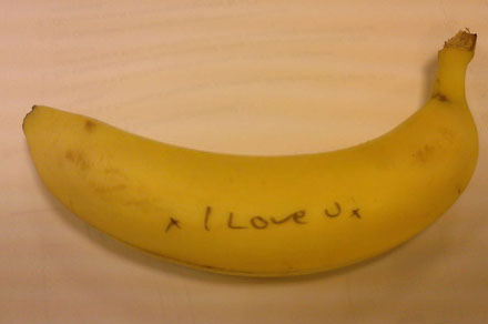 ... with your communication can be with fun and sexy messages ON bananas!