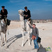 Egyptian Police on Camels - Giza Pyramids, Egypt