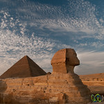 Great Sphinx in Late Afternoon Sky - Giza, Egypt