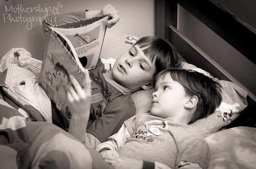 Big brother reading