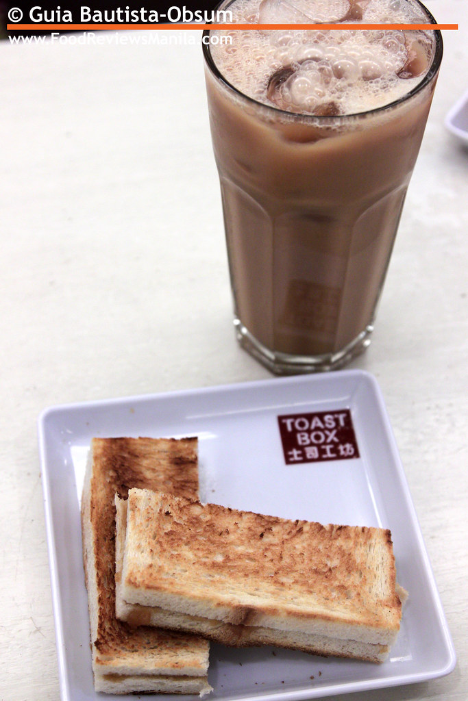 Toast Box Kaya Toast and Milk Tea