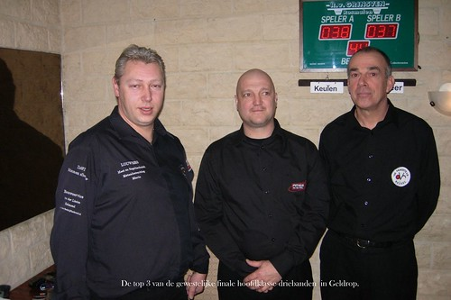Top 3 gewest Hoofdklasse driebanden 2012