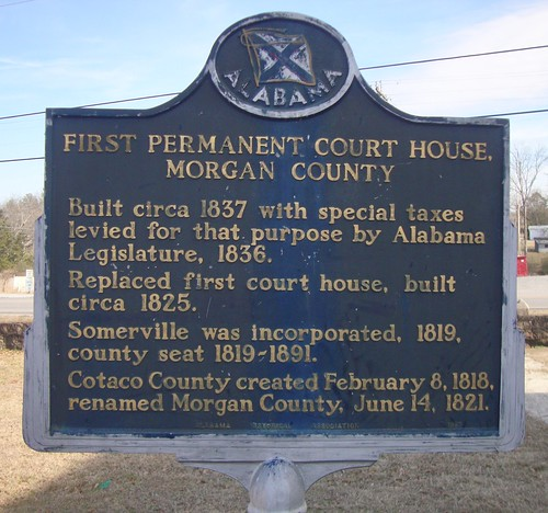 First Permanent Morgan County Courthouse Marker (Somerville, Alabama)