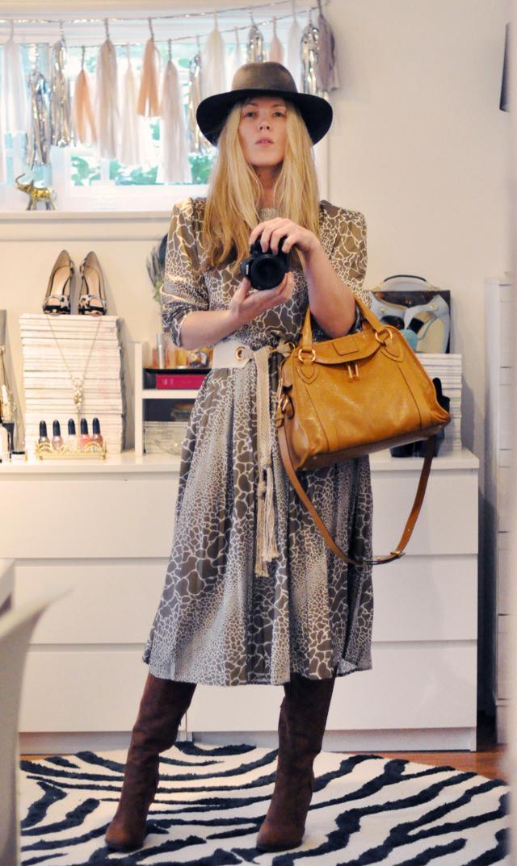 dressing up-fedora - 70s look- vintage dress