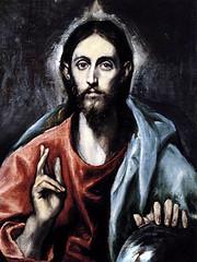 El Greco (1600), Jesucristo, Salvador del mundo