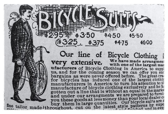 Bicycle suits. Sears Roebuck & Co. catalogue 1897