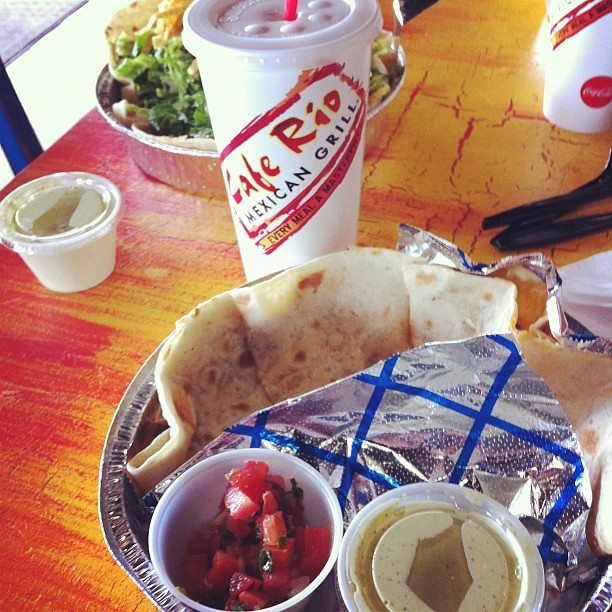 Happiness is pork quesadillas @CafeRioMexGrill.