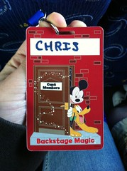 Backstage Magic Tour Name Tag