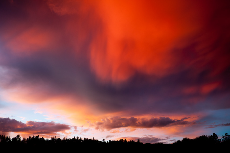 Clearing storm at sunset, Ahwahnee, California  2010