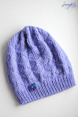 Lavender cat hat
