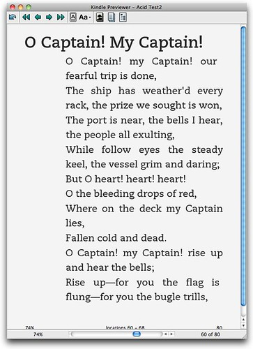 Poetry - bad Kindle formatting