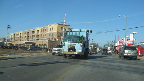 A City Of Chicago Department Of Streets And Sanitation Volvo garbage truck.  Chicago Illinois USA. Early January 2012. by Eddie from Chicago