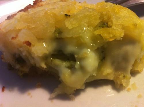 sformato di patate con crema zucchine formaggi