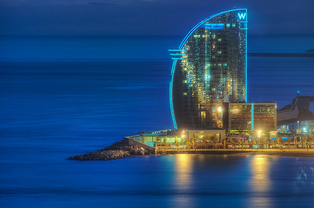 W barcelona spain hdr flickr photo sharing for Hotel vela de barcelona