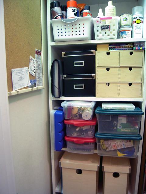 Utility Closet Shelves