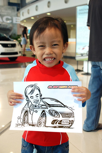 Caricature live sketching for Tan Chong Nissan Motor Almera Soft Launch - Day 4 - 21