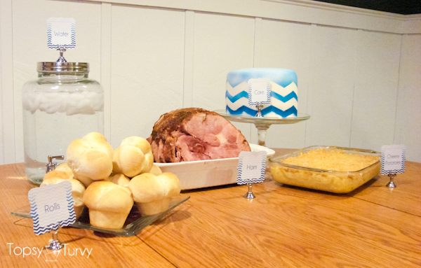 blue-chevron-ombre-birthday-dinner