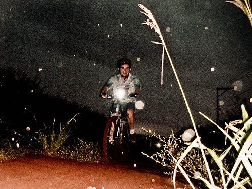 Trilha noturna com chuva / Night ride with rain