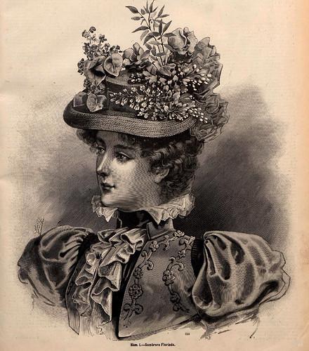 001-Sombrero Florinda--La Última moda- revista ilustrada hispano-americana, del 23 de mayo de 1897-copyright MemoriadeMadrid