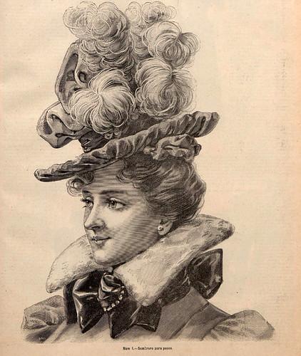 008-Sombrero para paseo- La Última moda-revista ilustrada hispano-americana, del 12 de diciembre de 1897-copyright MemoriadeMadrid