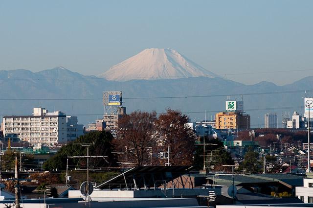 ふくにわから望む富士山
