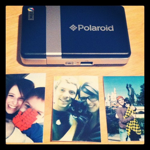 "My new little instant printer :) the pictures are only 2"" x 3""!! So cute :)"
