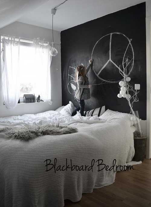 chalkboard paint wall in bedroom – THE STYLE FILES