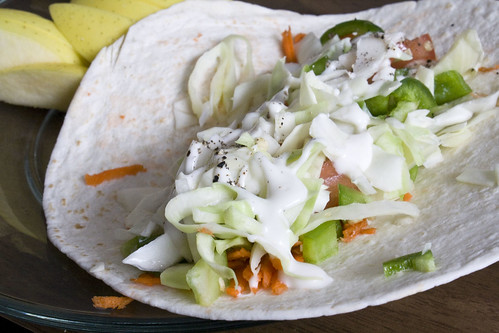 Fresh Cabbage and Veggie Wrap Recipe