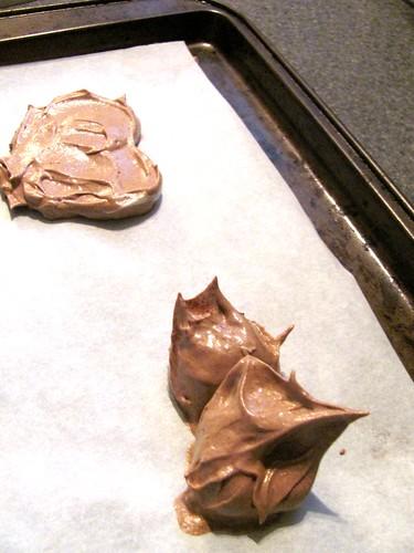 Low Fat Valentine's Day Chocolate Meringue Hearts
