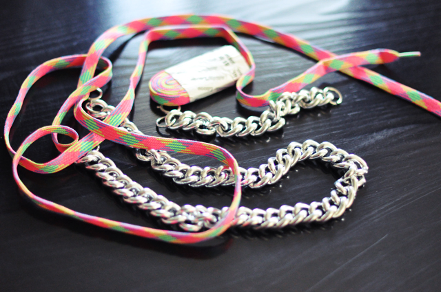 neon chain necklace diy-1