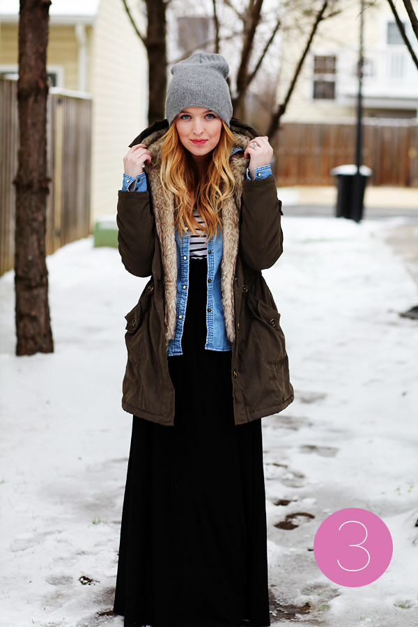 how sydney wears it maxi skirts in winter washingtonian