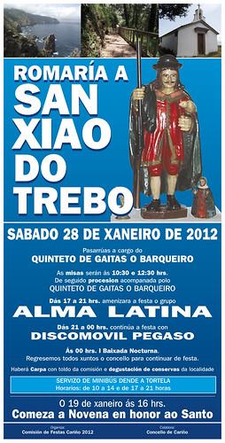 Cariño 2012 - Romaría de San Xiao do Trebo - cartel