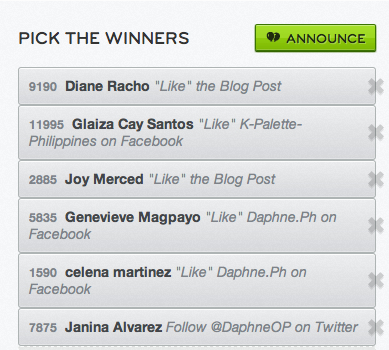 kpalette winners