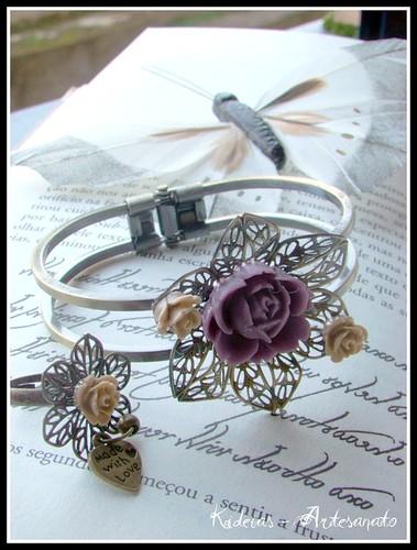 Conjunto anel e pulseira by kideias - Artesanato