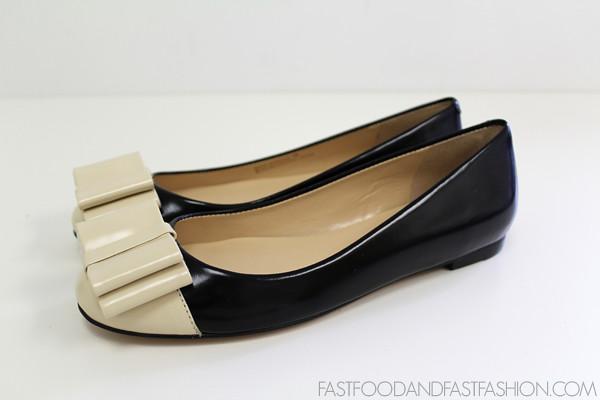 Talbots Black and White Lyla Tuxedo flat side