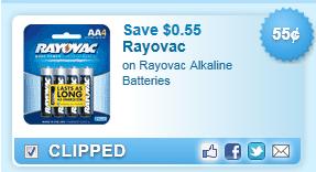 Rayovac Alkaline Batteries Coupon