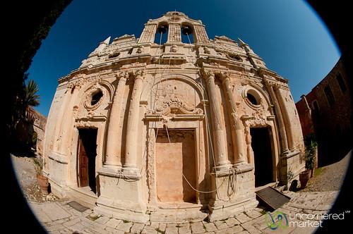fisheye greece monastery crete greekislands arkadi kriti arkadimonastery