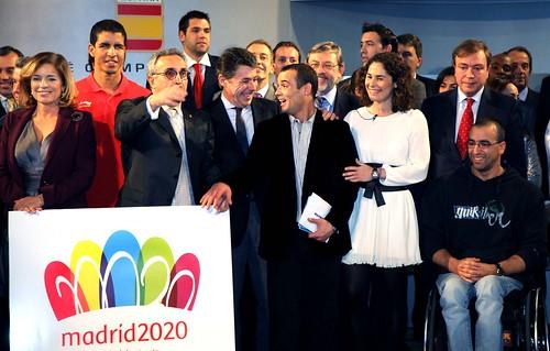 Presentación de´l logo de Madrid 2020