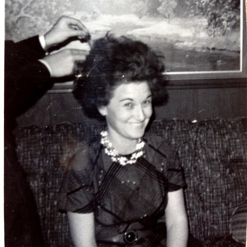 My grandma acting silly. Must have been late 1940's. #instadaily #instagood #retro #instahub #hair #silly #oldpictures #antique #grandparents #janphotoaday