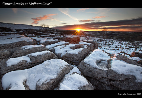 """dawn breaks at malham cove"""